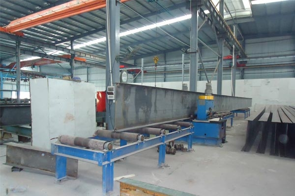 H steel flange straightening machine